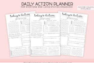 Printable Planner Insert Page Graphic By RainbowGraphicx