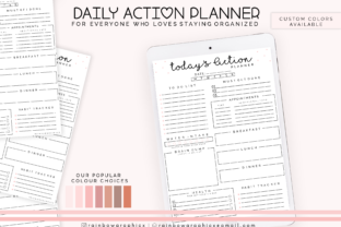 Print on Demand: Printable Planner Insert Page Graphic Crafts By RainbowGraphicx  2