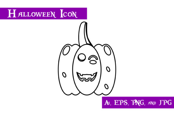 Download Free Pumpkin Halloween Icon Graphic By Purplespoonpirates Creative SVG Cut Files