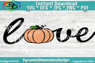 Download Free Pumpkin Love Graphic By Dynamicdimensions Creative Fabrica for Cricut Explore, Silhouette and other cutting machines.