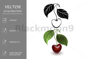 Red and Black Cherry Graphic By Blackmoon9