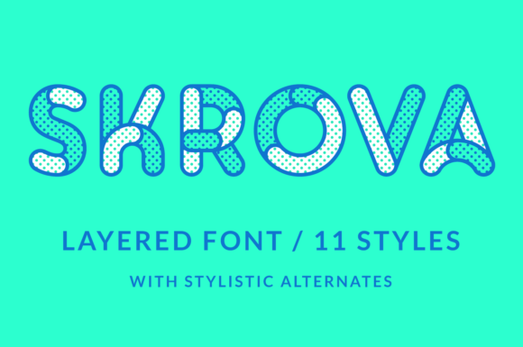 Print on Demand: Skrova Display Font By Studio Dot by dot