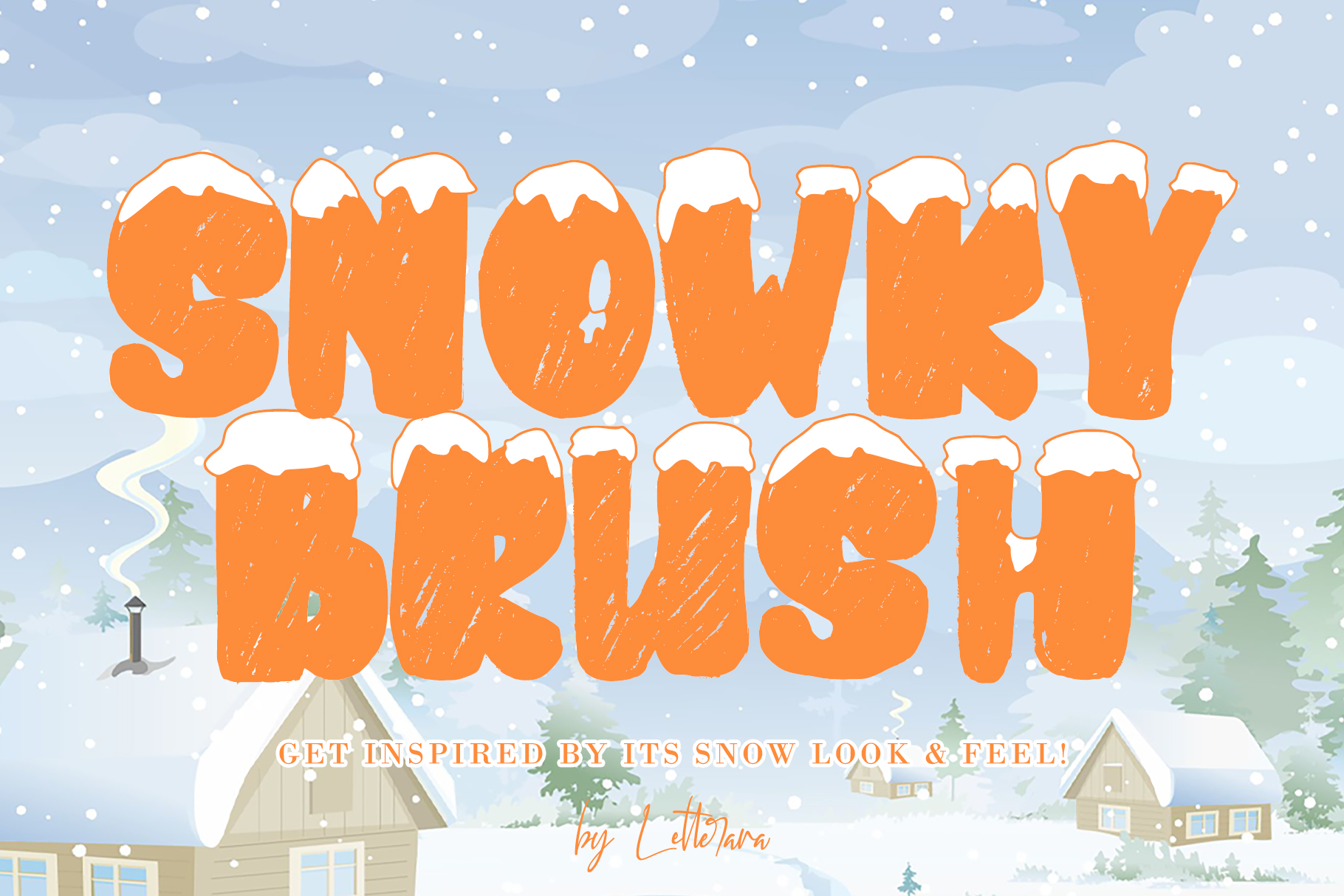Download Free Snowkybrush Font By Thomasaradea Creative Fabrica for Cricut Explore, Silhouette and other cutting machines.