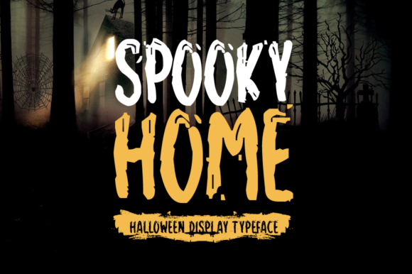 Print on Demand: Spooky Home Display Font By Shattered Notion