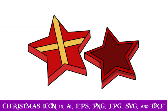 Download Free Star Gift Christmas Icon Graphic By Purplespoonpirates for Cricut Explore, Silhouette and other cutting machines.