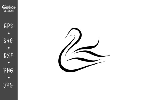 Download Free Swan Vector Graphic By Sashica Designs Creative Fabrica for Cricut Explore, Silhouette and other cutting machines.