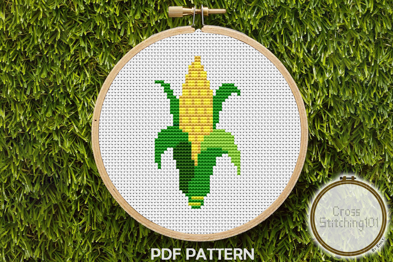 Download Free Sweet Corn Modern Cross Stitch Pattern Graphic By for Cricut Explore, Silhouette and other cutting machines.