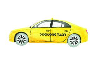 Taxi - Watercolor Style Craft Design By Creative Fabrica Crafts
