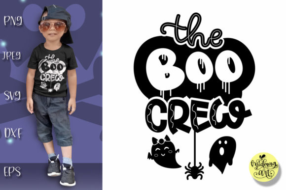Download Free The Boo Crew Graphic By Midmagart Creative Fabrica for Cricut Explore, Silhouette and other cutting machines.