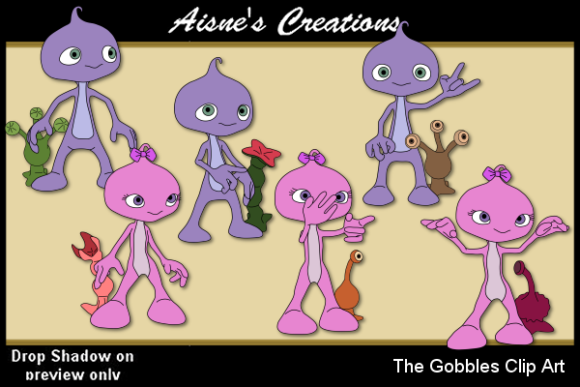 Print on Demand: The Gobbles Clip Art Graphic Illustrations By Aisne