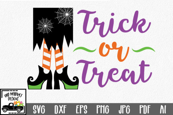 Trick or Treat Graphic Crafts By oldmarketdesigns
