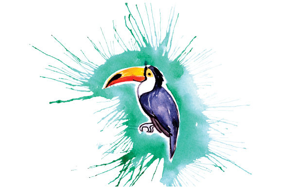 Download Free Toucan In Paint Splatter Watercolor Style Svg Cut File By for Cricut Explore, Silhouette and other cutting machines.