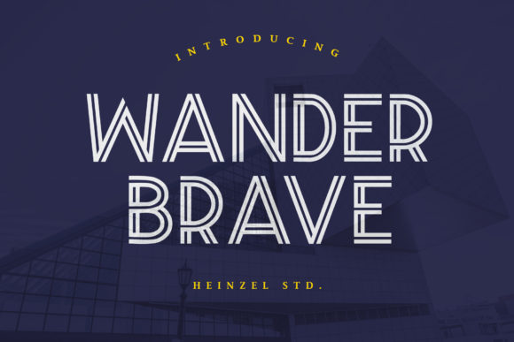 Print on Demand: Wander Brave Display Font By Heinzel Std