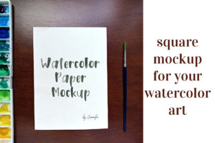 Download Free Watercolour Paper Mockup Graphic By Jennifer Chow Creative Fabrica for Cricut Explore, Silhouette and other cutting machines.
