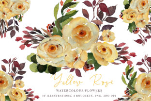 Watercolour Yellow Rose Graphic By Primafox Design