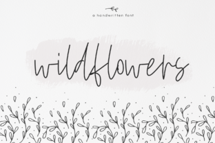 Wildflowers Font By KA Designs