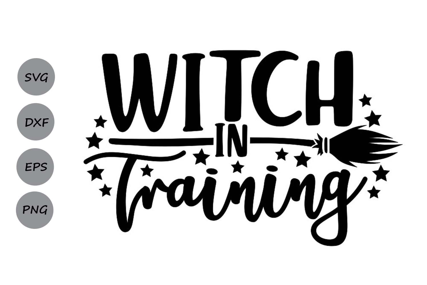 Download Free Witch In Training Graphic By Cosmosfineart Creative Fabrica for Cricut Explore, Silhouette and other cutting machines.