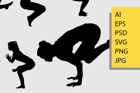 Yoga Silhouette Graphic Illustrations By Cove703 - Image 2