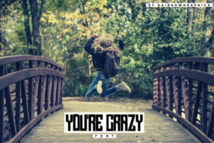 You're Crazy Font By RainbowGraphicx