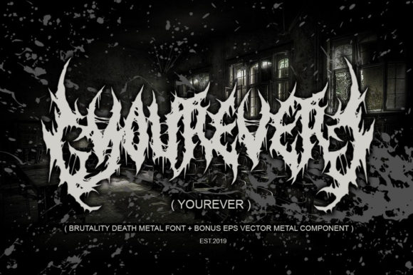 Print on Demand: Yourever Blackletter Font By fluffyartstudio