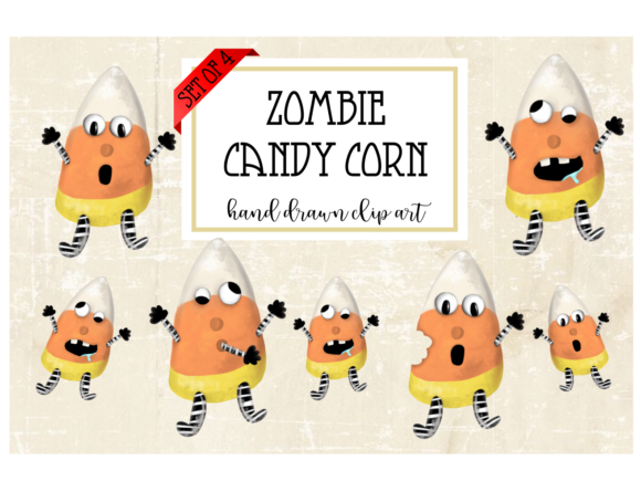 Print on Demand: Zombie Candy Corn Graphic Illustrations By ashley_lynne18