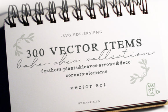 Print on Demand: 300 Boho-Chic Vectors Mega Pack Graphic Illustrations By nantia