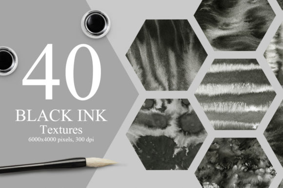 40 Black Ink Textures Graphic Textures By NassyArt