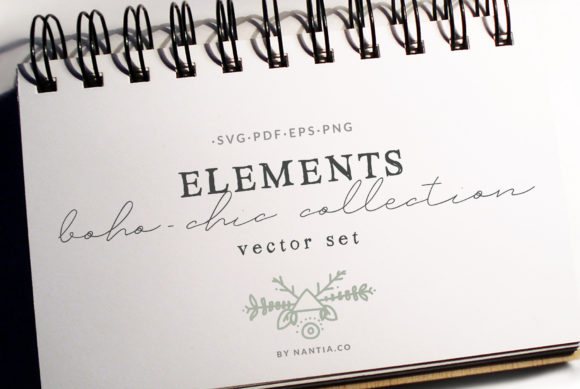Print on Demand: 50 Boho-Chic Elements Vectors Graphic Objects By nantia