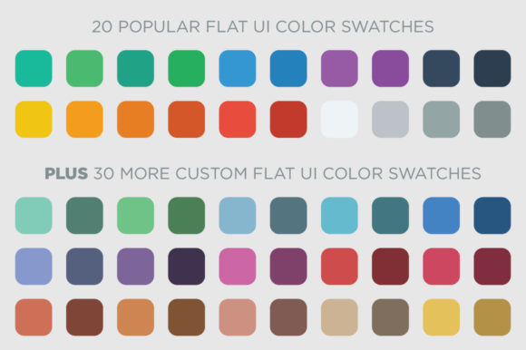 50 Flat UI Color Swatches Graphic By BlackLabel Image 2