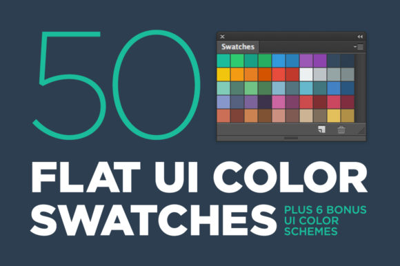 50 Flat UI Color Swatches Graphic By BlackLabel Image 1