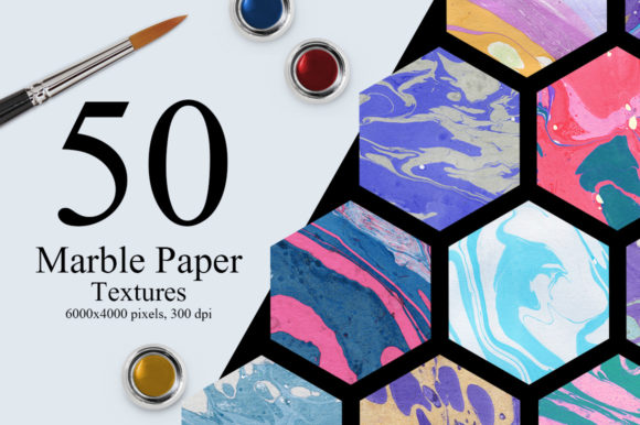 50 Marble Paper Textures Graphic Textures By NassyArt - Image 1
