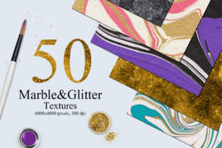 50 Marble and Glitter Textures Graphic By NassyArt