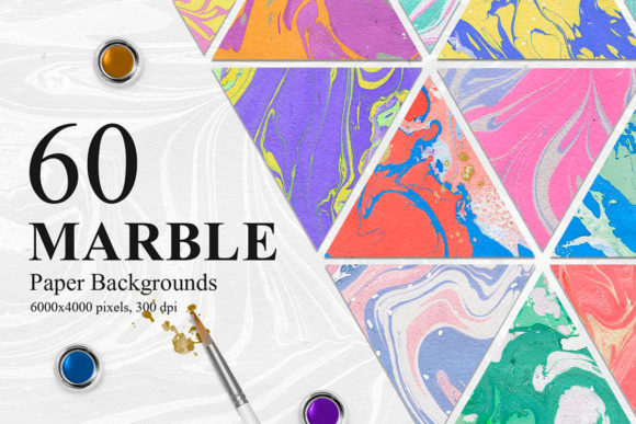 60 Marble Paper Backgrounds Graphic Backgrounds By NassyArt