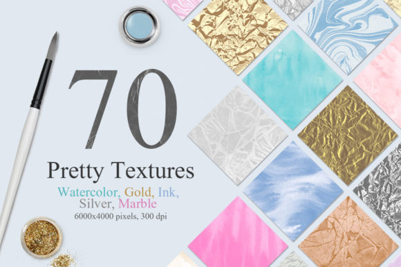 70 Watercolor, Gold, Marble Textures Graphic Textures By NassyArt