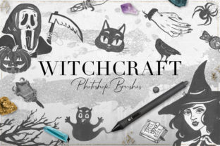 75 Witchcraft Photoshop Brushes Graphic By NassyArt