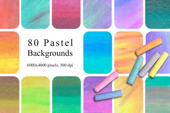 80 Pastel Backgrounds Graphic Textures By NassyArt