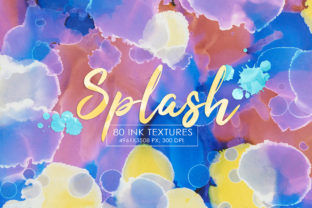 80 Splash Ink Textures Graphic By NassyArt