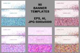 Download Free 90 Mosaic Banner Template Designs Graphic By Davidzydd for Cricut Explore, Silhouette and other cutting machines.