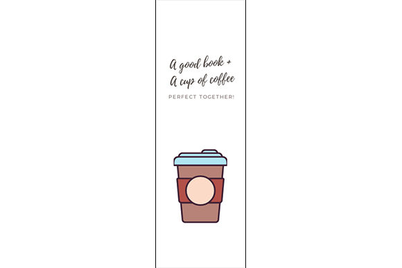 Download Free A Good Book And A Cup Of Coffee Bookmark Graphic By Renata for Cricut Explore, Silhouette and other cutting machines.