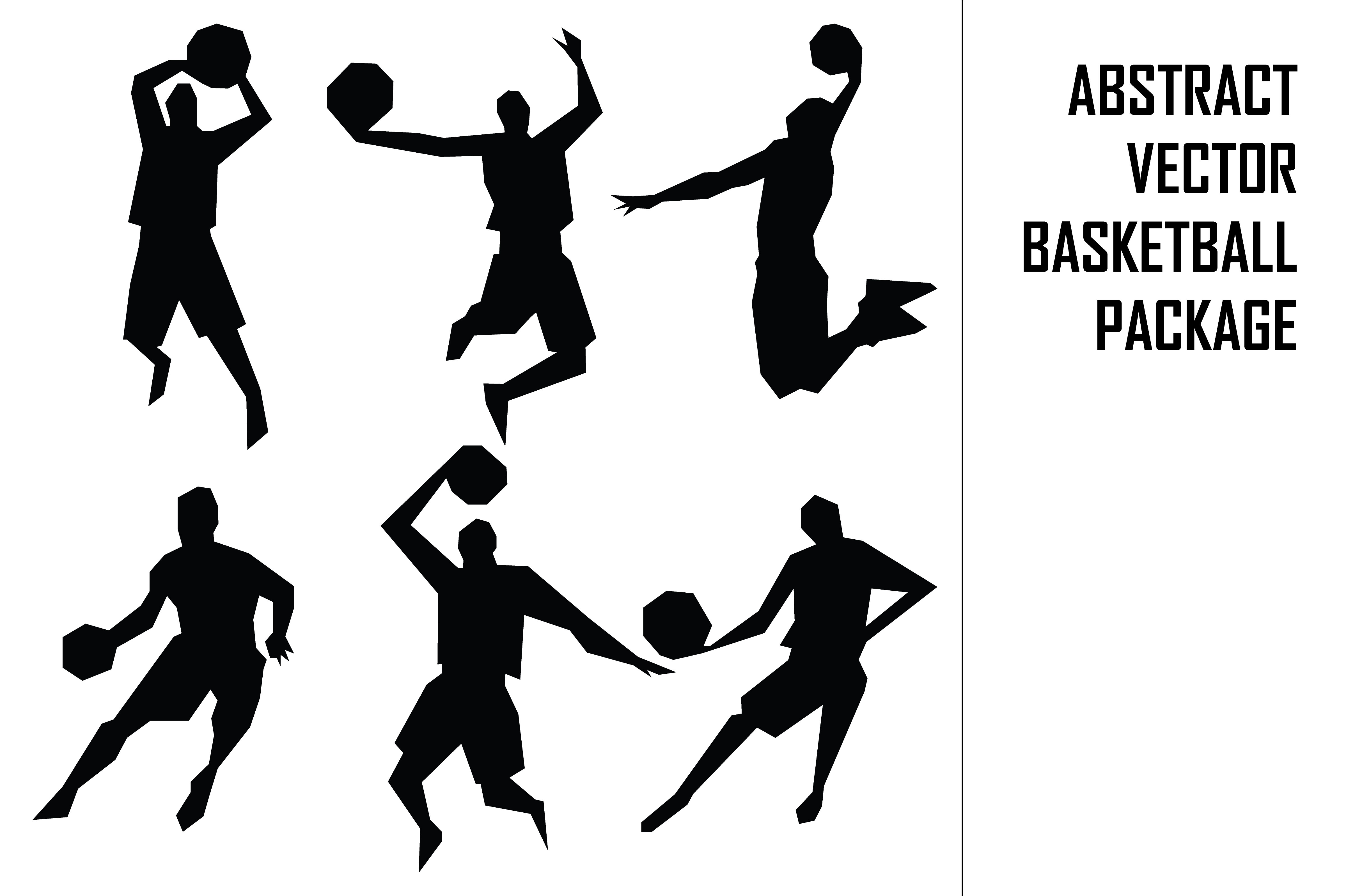 Download Free Abstract Vector Basketball Package Graphic By Qasas77 Creative for Cricut Explore, Silhouette and other cutting machines.