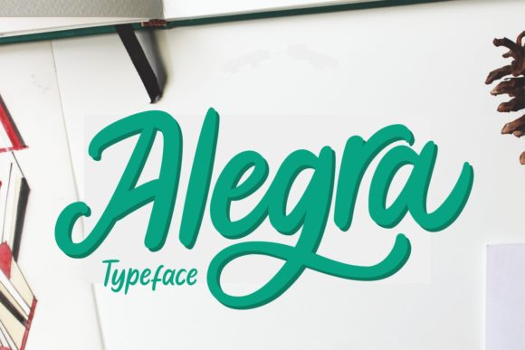 Print on Demand: Alegra Script & Handwritten Font By Aysa - 7NTypes