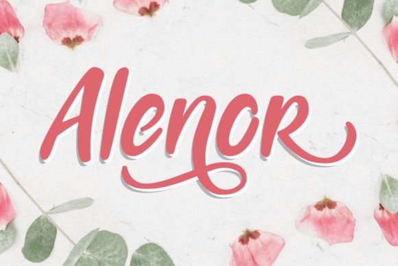 Print on Demand: Alenor Script & Handwritten Font By Aysa - 7NTypes