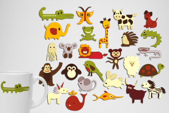 Print on Demand: Alphabet Animals Graphic Illustrations By Revidevi - Image 1