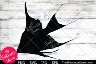 Angel Fish Silhouette Graphic By thesilhouettequeenshop