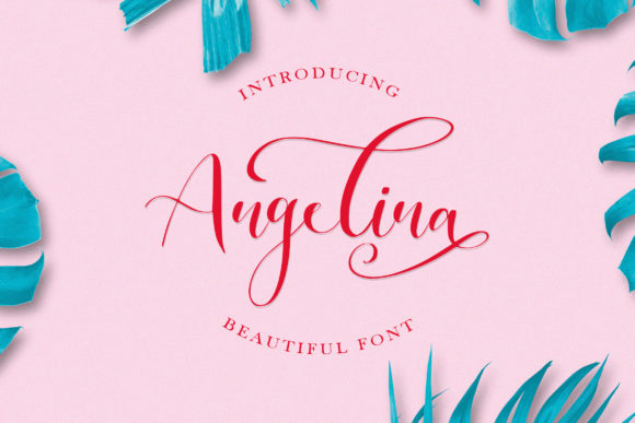 Print on Demand: Angelina Script & Handwritten Font By Juncreative