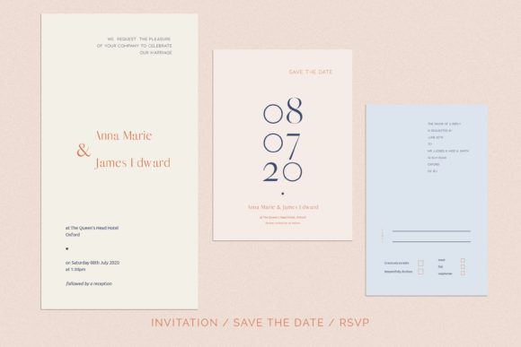 Print on Demand: Anna Wedding Invitation Suite Graphic Print Templates By Primafox Design - Image 6
