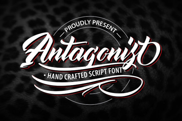 Print on Demand: Antagonist Script & Handwritten Font By Vunira