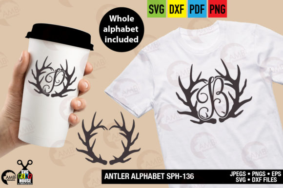 Download Free Antler Alphabet Graphic By Ambillustrations Creative Fabrica for Cricut Explore, Silhouette and other cutting machines.
