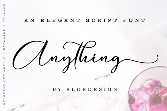 Print on Demand: Anything Script Script & Handwritten Font By aldedesign