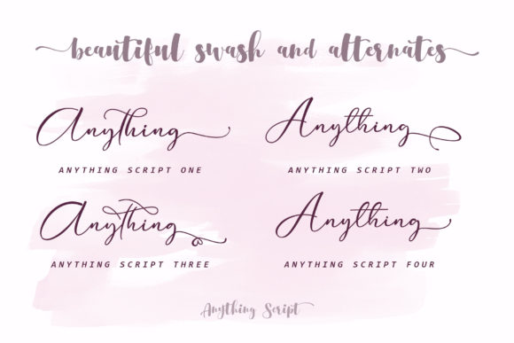 Print on Demand: Anything Script Script & Handwritten Font By aldedesign - Image 9